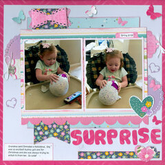 Surprise with granddaughter Emmalee