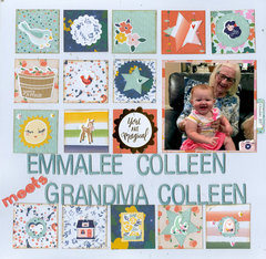 Emmalee Colleen meets Grandma Colleen