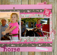 Giddy Up Horse with granddaughter