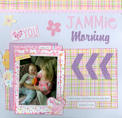 Jammie morning with granddaughters Audrey and Emmalee
