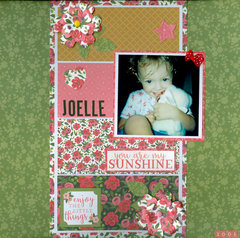 You are my sunshine granddaughter Joelle