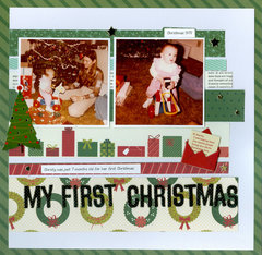 My First Christmas..daughter Christy