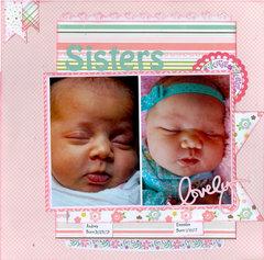 Sisters...Granddaughters Audrey & Emmalee
