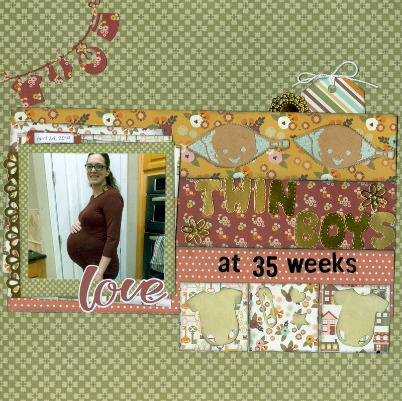 Twin Boys at 35 weeks with daughter Stacy