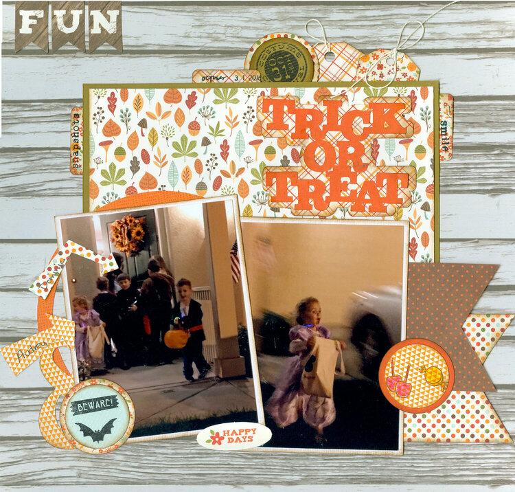 Trick or Treat grandkids Dominic & Audrey