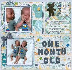 One month old..grandsons Ian & Harrison