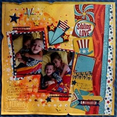 Sibling Love DT layout for BoBunny