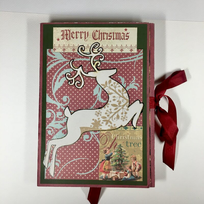 Christmas memory tri-fold book