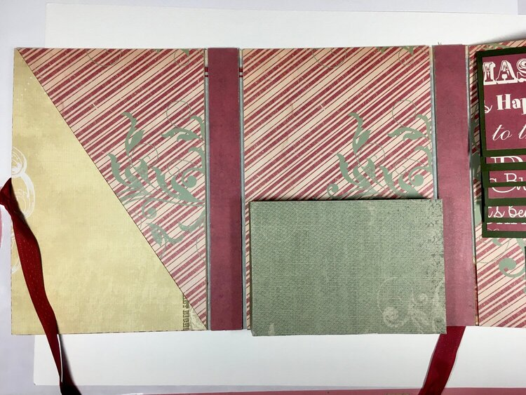 Christmas memory tri-fold book both flaps open