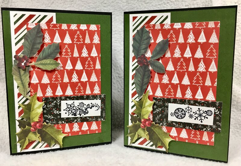 December Christmas Cards 1 and 2