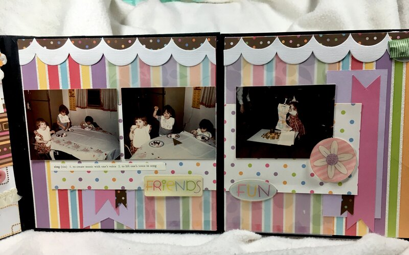 Angie's album page 7 flap open (V-23/52)