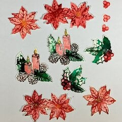Inktober #10 watercolor stamping effect
