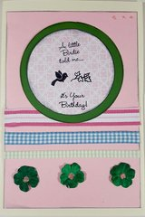 Little Bird Birthday Card