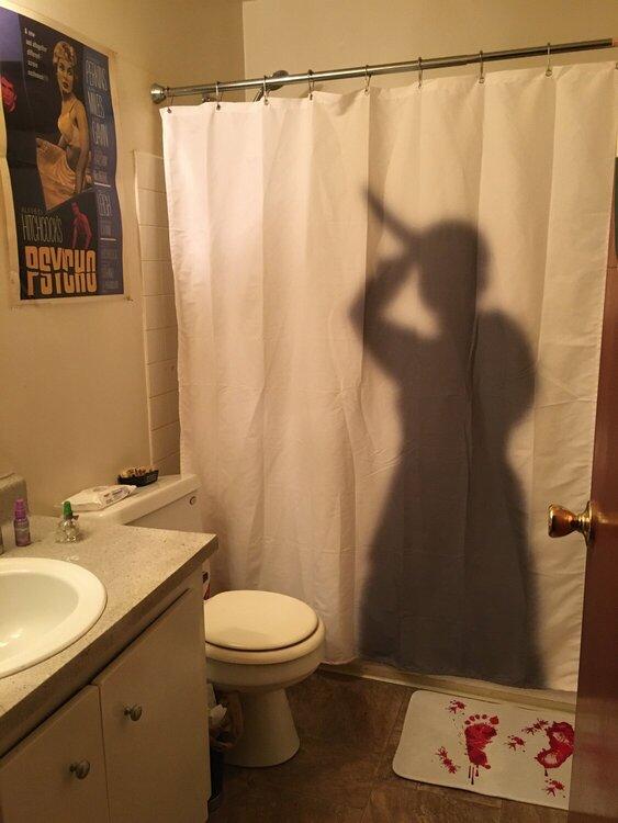 New Psycho Shower Curtain and Bathmat