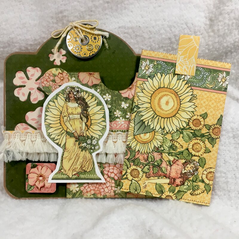 kwclement inspired G45 GG Easel Card double tag both