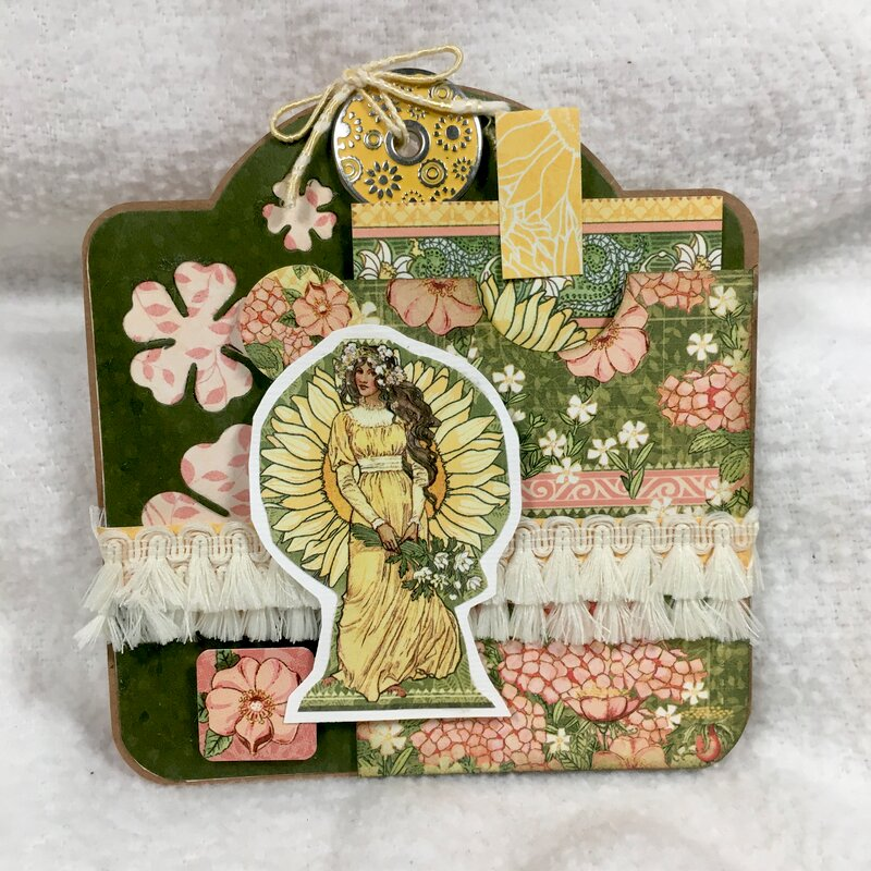 kwclement inspired G45 GG Easel Card double tag front