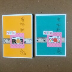 I'd rather be crafting cards #1 & #2 (22 & 23/52)