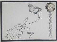 B&W thinking card