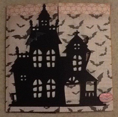 Halloween secret door card