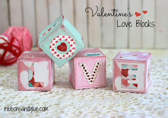 Echo Park Paper- Valentine's Love Blocks