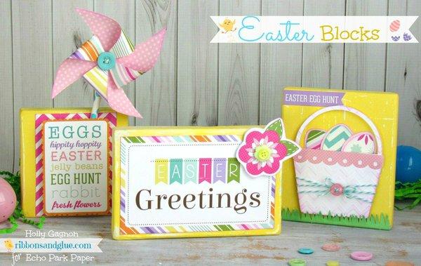 Echo Park Hippity Hoppity Mini Kit Easter Blocks