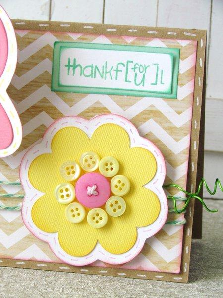 Spring Button Card