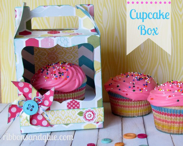 Echo Park Sweet Girl...Cupcake Box