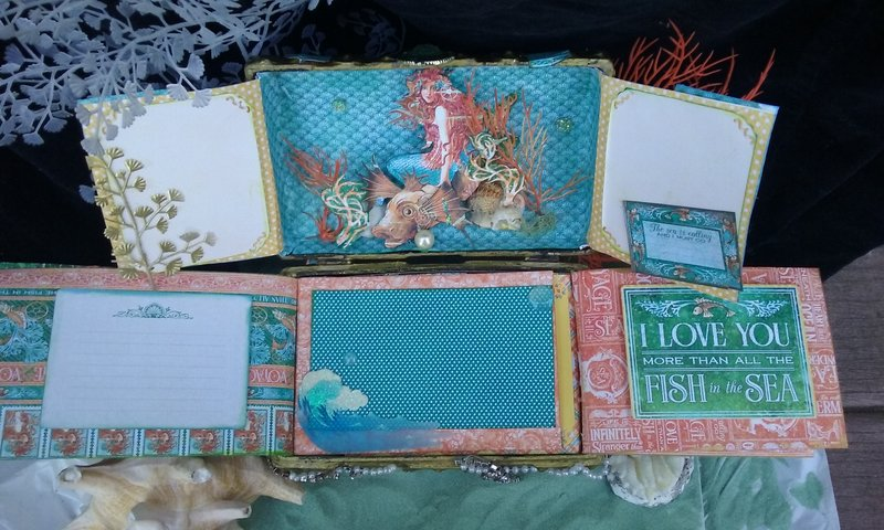 Voyage beneath the sea to the mermaid's treasure chest (top view)