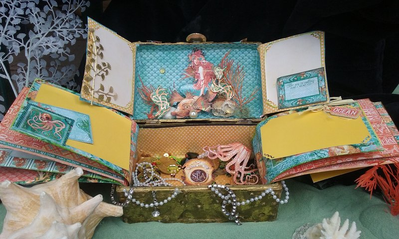 Voyage beneath the sea to the mermaid's treasure chest