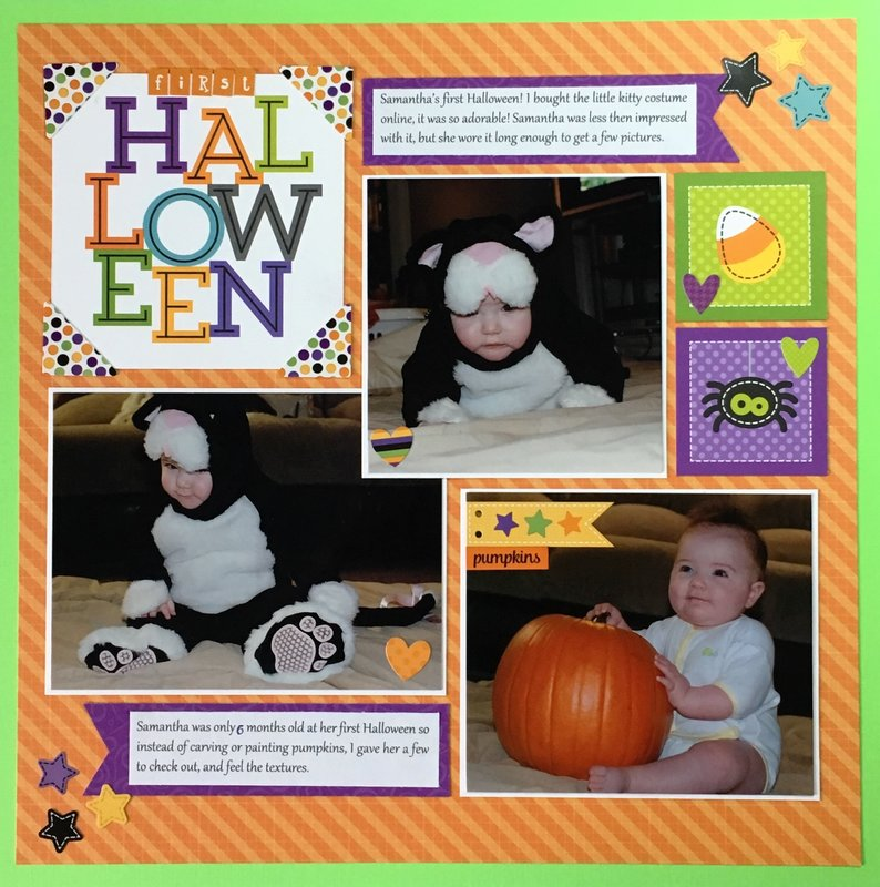 Baby's First Halloween Layout