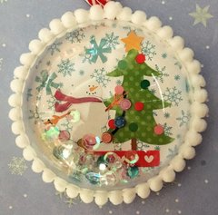 Doodlebug Shaker Christmas Ornament