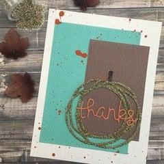 Fall Thanks Card