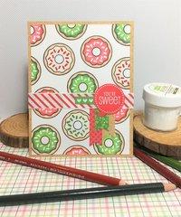 Jillibean Soup Christmas Donut Card
