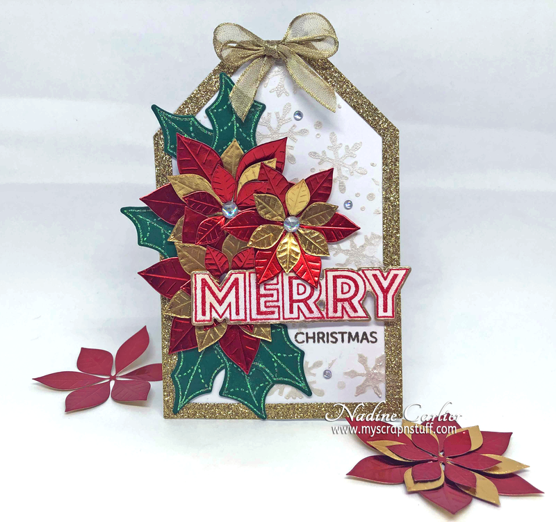 Tag Shaped Christmas Card
