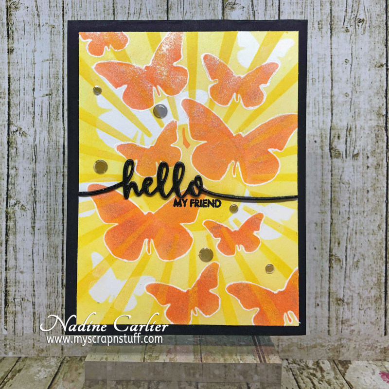 Hello My Friend Butterfly Card