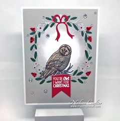 Simple Owl Christmas Card