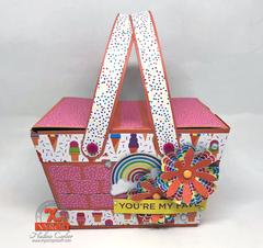 A Cute Paper Picnic Basket
