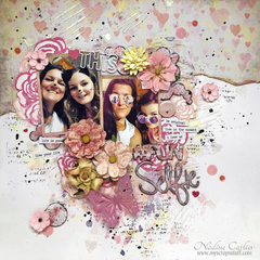 MIXED MEDIA SELFIE LAYOUT