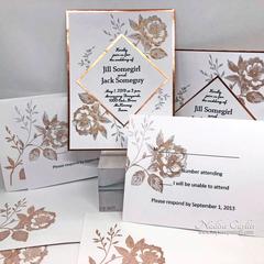DIY ELEGANT WEDDING INVITATIONS