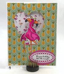 Flamingo Twist Tie