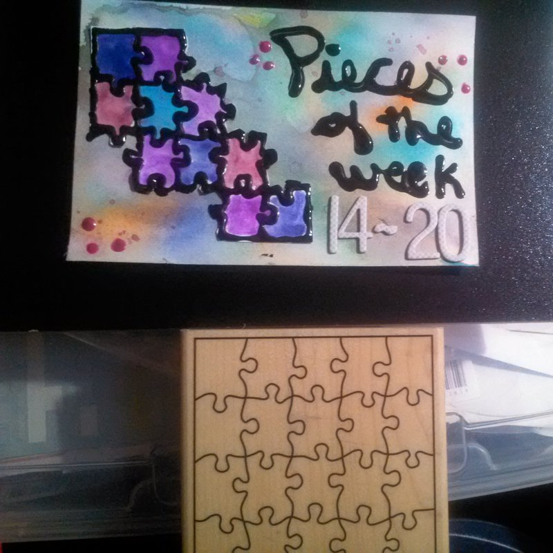 Pieces of the Week (ICAD Homemade Project Life Card)