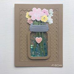 Jar of Birthday Flowers