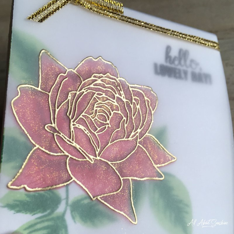 Christmas Rose Mini Card