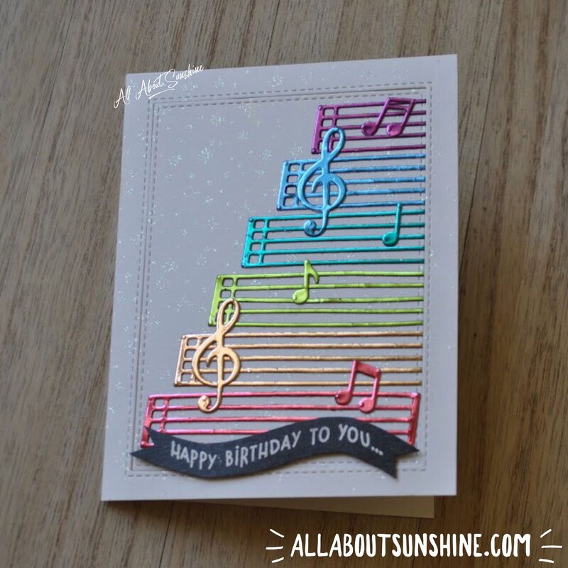 Foiled Music Notes