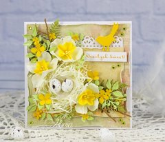 Easter card with a nest