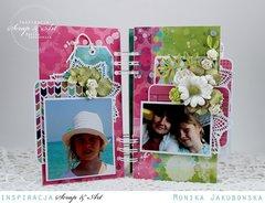Mini album with flowers