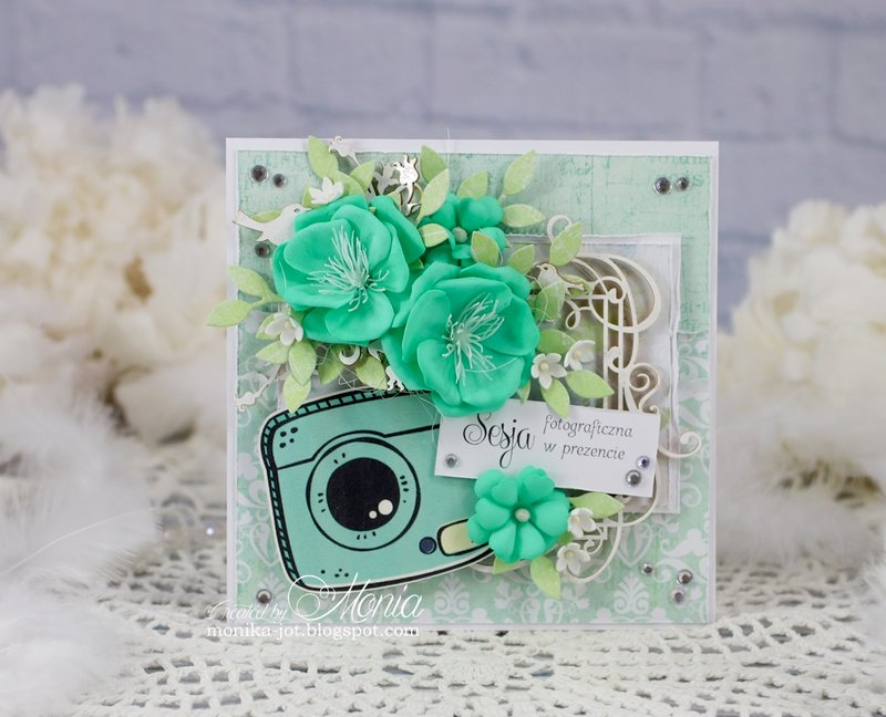 Card with mint flowers