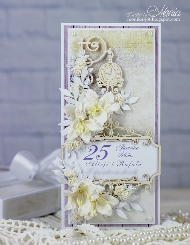 Anniversary card with lilies