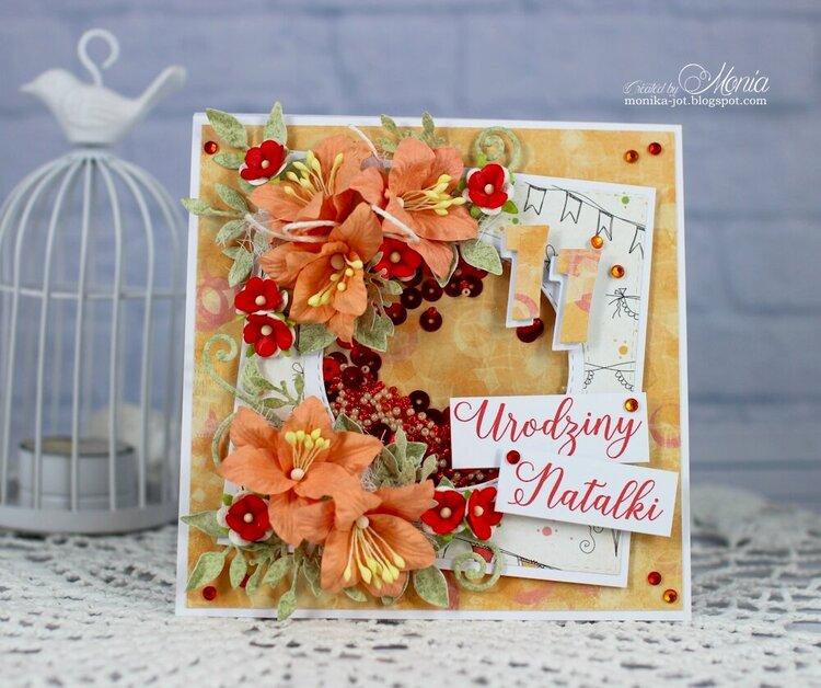 Birthday card with shaker-box