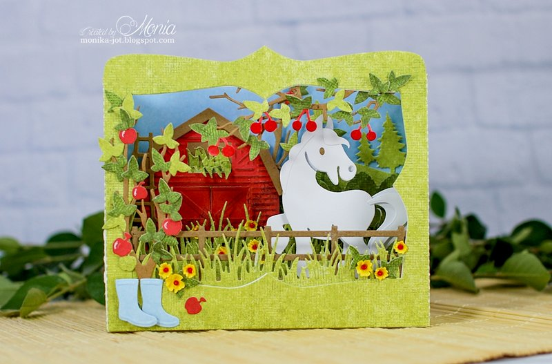Box card with a horse